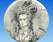 Edwardian Pocket Mirror Woman