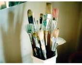 SALE paint brushes mini print 4x6