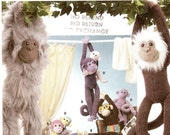 Simplicity Crafts UNCUT Sewing Pattern - Stuffed Monkeys in Two Sizes
