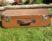 Two Tone Antique Suitcase