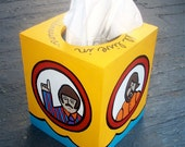 Yellow Submarine Beatles Tissue Box Cover Hand Painted by Debbie Is Adopted