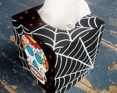 Day of the Dead Tissue Box Halloween Cover Hand Painted by Debbie Is Adopted
