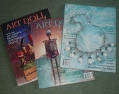 magazine lot - art doll quarterly & belle armoire