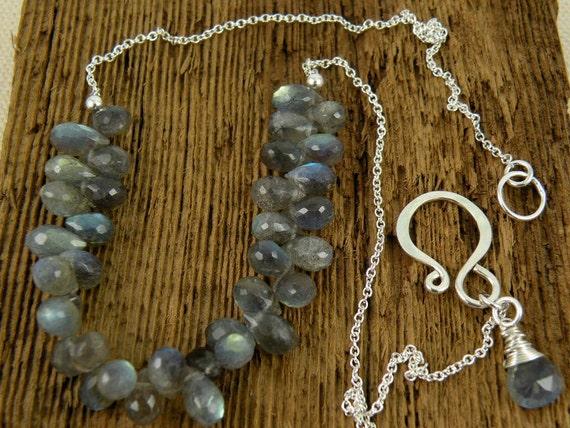 Faceted Labradorite Briolette Necklace
