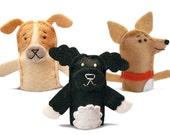 Custom Pet Portrait Felt Finger Puppet - Free shipping!