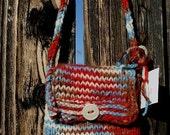 handknit. strawberry bag. four elements
