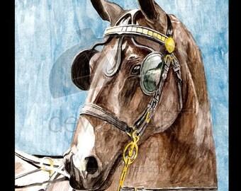 Watercolor Hack Horse - Print