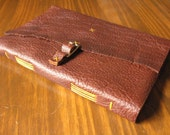 Large Long-stitch Bison Leather Notebook