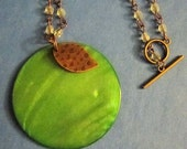 Apple of your Eye Beaded Necklace