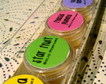 Solid Perfume Set of 5-You Choose 5 From 25+ Fragrances