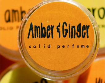 Amber Ginger Solid Perfume