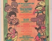 Saturday Morning TV '80s original PRINT AD Menudo, Pac-man, Monchhichis, The Littles, Rubik's Cube advertisement 1983