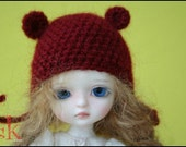 10th Anniversary FREE SHIPPING -- SimplyKir True Blood Bear Lati/Latidoll Yellow PukiFee HAT (PreMade)