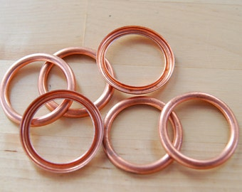 6 Copper Rings