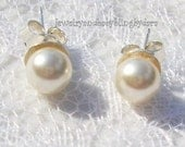 Sterling Silver White Swarovski Crystal Post Earrings other colors available UPIC colors