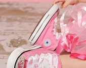 Infant Toddler Personalized Name Princess Crown Crystal Bling Pink Converse Hi-Top Sneakers Shoes
