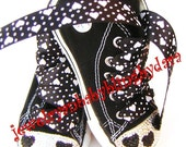 Swarovski Converse Black Hearts Name Bling Crystal Black All Star Converse Hi-Top Sneakers Shoes Valentines Day