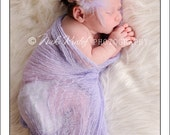NEW Purple Dream Flower Feather Rhinestone Purple Ruffle Headband Perfect for Infants to Adults