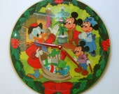 A Disney Christmas Carol Picture Disc 12 inch Vinyl Record Clock