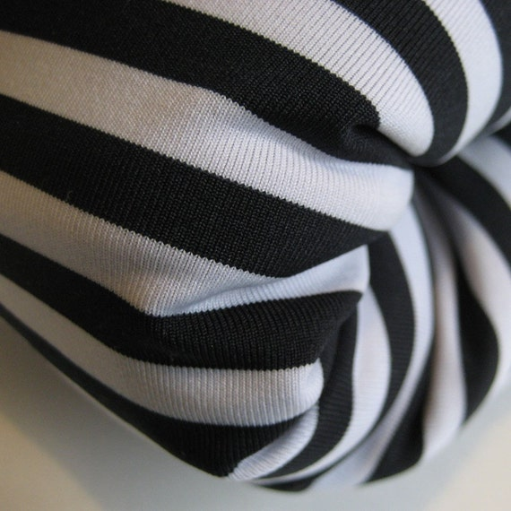 Black And White Striped Fabric 3yd