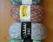 Reserved for scrapchique  Mixed lot of sock yarn Trekking XXL and Regia Prints