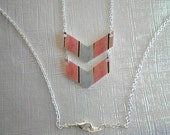 Double Chevron Necklace - Stripe Pattern