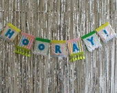 Hooray Party Banner Bunting