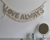 PRE ORDER - Love Always Glittering Fringe Banner  - Garland, Party, Photo Prop, and Home Decor - original design fringe banner