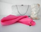 Vera Pink Silk Handkerchief Scarf