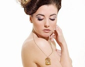 Petit Oiseau - Gold Birdcage Necklace