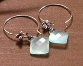 Hint of Glint - Seablue Chalcedony Kites and Sterling Silver
