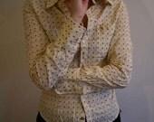 Tailored patterned shirt - yellow