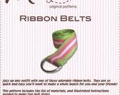 PDF Pattern - Ribbon Belts - Muse Patterns