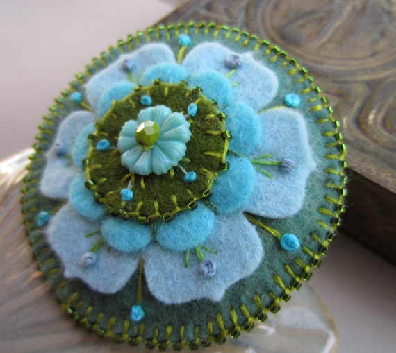 Felt Flower Brooch FREE SHIPPING