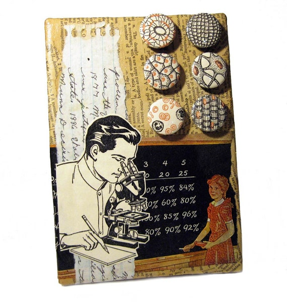 He Blinded Me with Science - Original Magnetic Collage Art