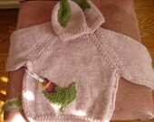 9 to 12 month hat and sweater set.