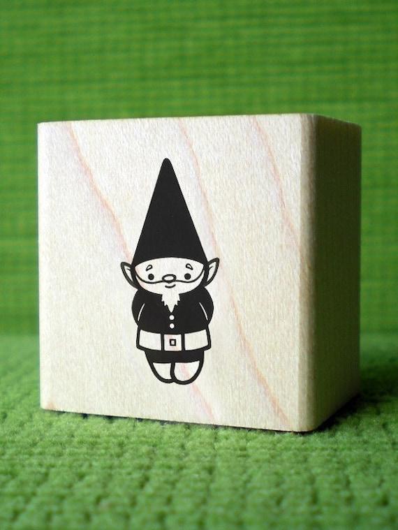 1 Inch Dark Gnome Rubber Stamp