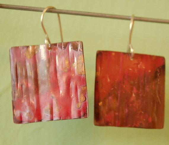 Flaming Copper Squares