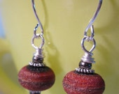 Earth and Rust Etched Earrings