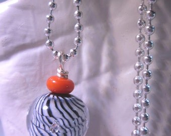 Zebra Stripes and Red Necklace