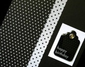 black and white polka dot birthday card
