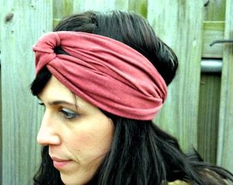 Turban Headband in Organic Hemp Jersey Stretch. Made to order.