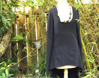 Tails Tunic in organic hemp jersey. Made to order