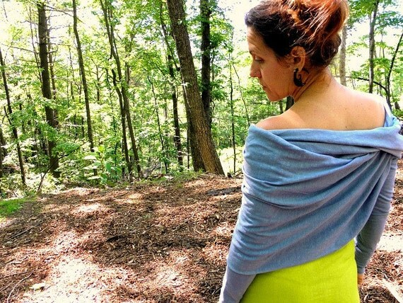 Shrug wrap A.K.A. The Arms  in organic stretch hemp cotton jersey. Made to order.