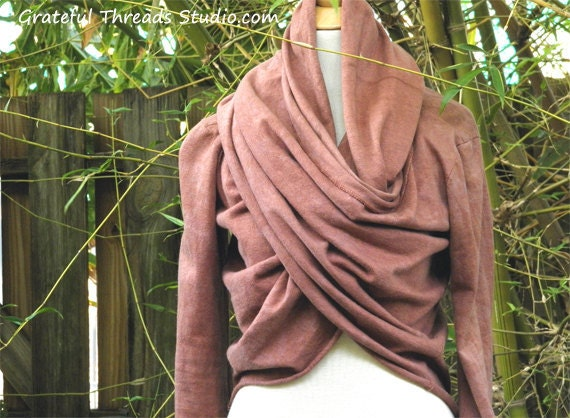 The Meditation Wrap in organic hemp jersey. Made to order.