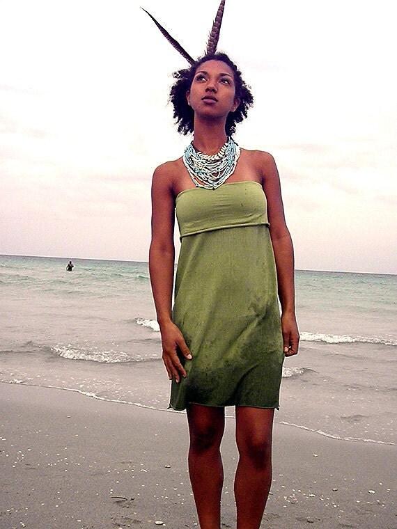 3 Way Tube Dress. Organic cotton hemp. Made to order.