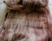 Black Cat Handspun spinning batt Chocobunny domestic wool CVM bamboo