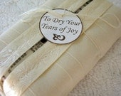 Dry Your Tears of Joy Wedding Tissue Holder by Nest