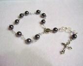 Single decade Hematite Rosary