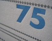 Diamond anniversary letterpress zine